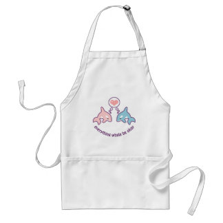 Cute Whales Adult Apron