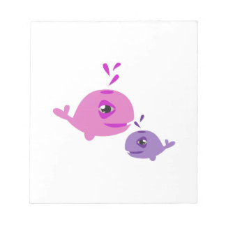 Cute Whales Notepads