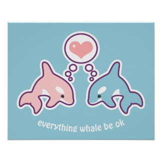 Cute Whales Poster