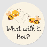 Cute What will it Bee Gender Reveal Baby Shower Classic Round Sticker