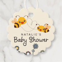 Cute What will it Bee Gender Reveal Baby Shower Favor Tags
