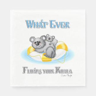 CUTE Whatever Floats your Koala Standard Luncheon Napkin