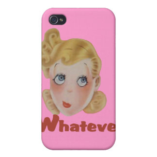 Cute Whatever girl Cover For iPhone 4