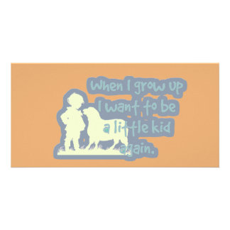 """Cute """"When I grow up..."""" Photo Cards"""