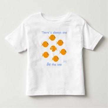 Toddler & Baby themed Cute Whimsical Blue-Eyed Little Baby Goldfish Toddler T-shirt
