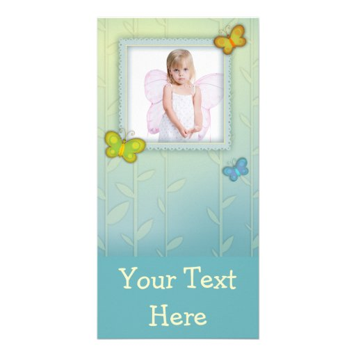 cute whimsical butterflies photo frame photo cards