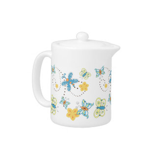 Cute Whimsical Butterfly Teapot