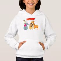 Cute Whimsical Cartoon Animals Personalized Hoodie