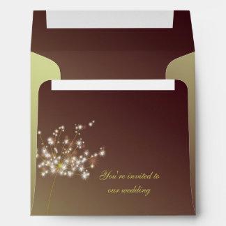 Cute Whimsical Dandelion Wedding Envelope