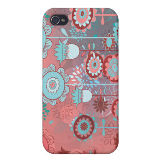 cute whimsical flowers bunch bokeh 2 iPhone 4/4S covers