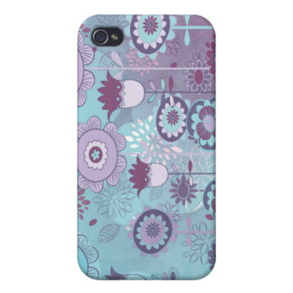 cute whimsical flowers bunch bokeh cover for iPhone 4