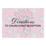 cute whimsical flowers on pink business cards