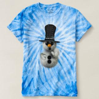 Cute Whimsical Fluffy Gothic Snowman T-shirt