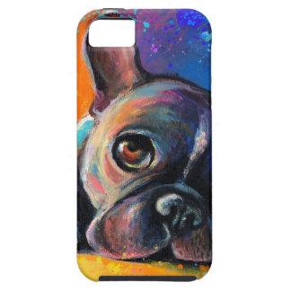 Cute Whimsical French Bulldog dog puppy Novikova iPhone 5 Cover