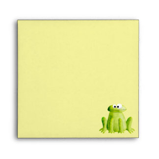 Cute Whimsical frog Square envelope