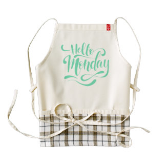 Cute Whimsical Hello Monday | HEART Apron