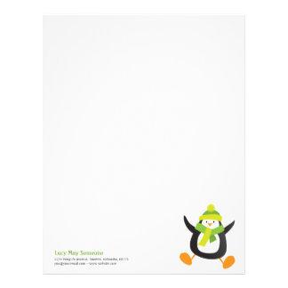 Cute Whimsical Penguin Novelty Letterhead