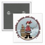 Cute, whimsical Pirate design Button