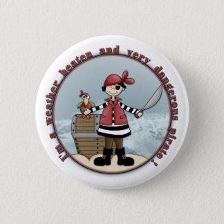 Cute, whimsical Pirate design Pinback Button