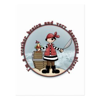 Cute, whimsical Pirate design Postcard