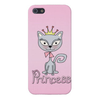 Cute Whimsical Princess Kitty Cat Case For iPhone SE/5/5s