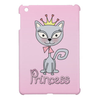Cute Whimsical Princess Kitty Cat iPad Mini Cases