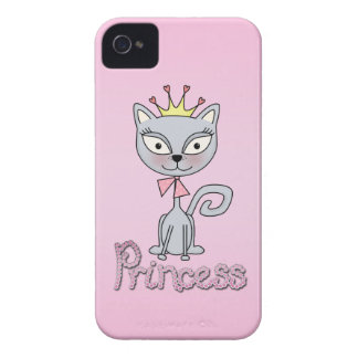 Cute Whimsical Princess Kitty Cat iPhone 4 Case-Mate Case