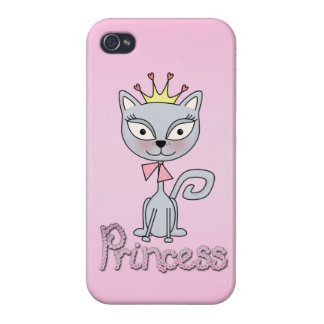Cute Whimsical Princess Kitty Cat iPhone 4 Cases
