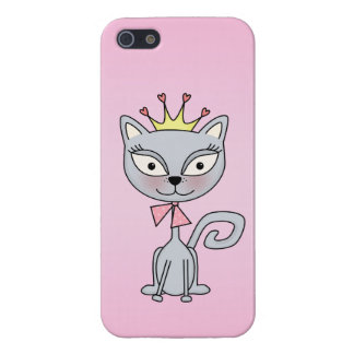 Cute Whimsical Princess Kitty Cat iPhone SE/5/5s Cover