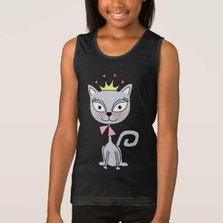 Cute Whimsical Princess  Kitty Cat Tank Top