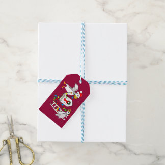 Cute Whimsical Puffins' Christmas Decorating Gift Tags