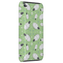 Cute Whimsical Sheep on Green iPod Touch Case