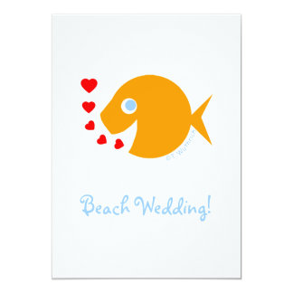 "Cute Whimsical Wedding Save The Date Invitation 5"" X 7"" Invitation Card"