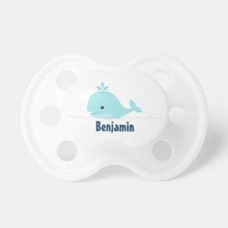 Cute Whimsical Whale {blue} BooginHead Pacifier