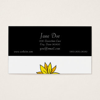 Cute Whimsical Yellow Flowers Doodle Art Business Card