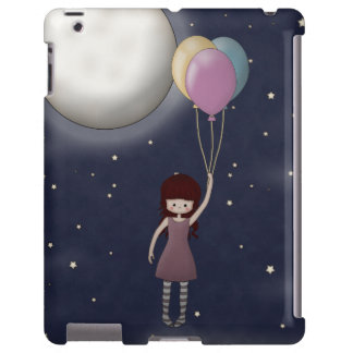 Cute Whimsical Young Girl with Balloons