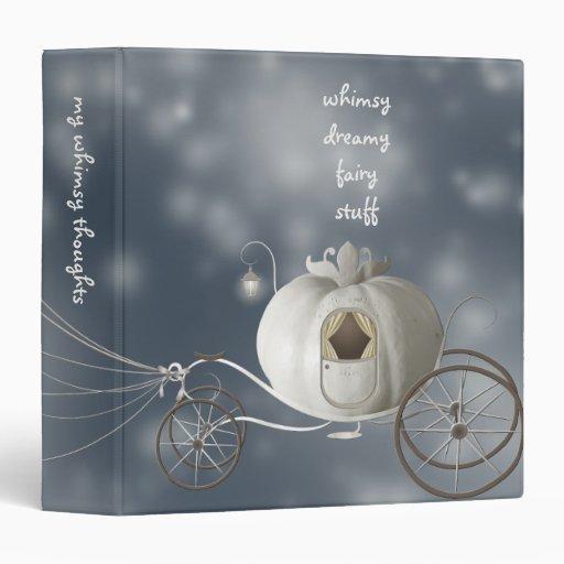 Cute, Whimsy Cinderella Story 3 Ring Binders