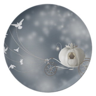 Cute, Whimsy Cinderella Story Melamine Plate