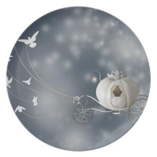 Cute, Whimsy Cinderella Story Melamine Plate