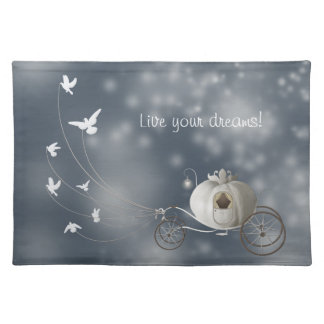Cute, Whimsy Cinderella Story Cloth Place Mat