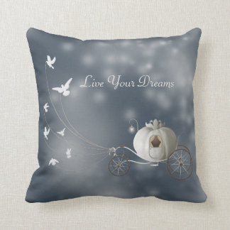 Cute, Whimsy Cinderella Story Throw Pillow