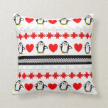 Cute Whimsy Penguin Patterned Throw Pillows