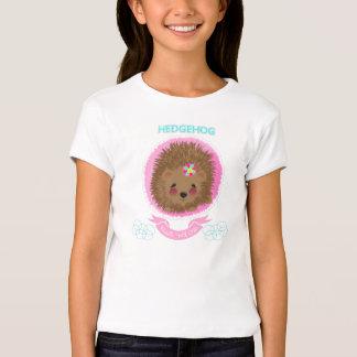 Cute Whimsy Woodland Animal Hedgehog Design T-Shirt
