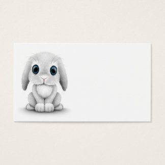Cute White Baby Bunny Rabbit Business Card