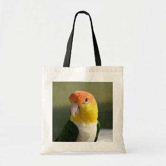 Cute White Bellied Caique Parrot Canvas Bags