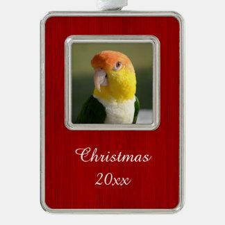 Cute White Bellied Caique Parrot Christmas Ornament
