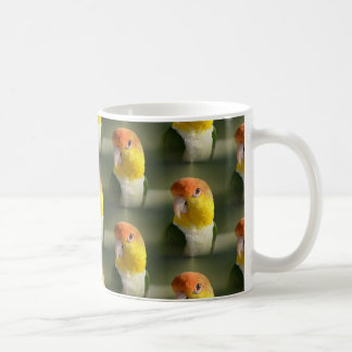 Cute White Bellied Caique Parrot Classic White Coffee Mug
