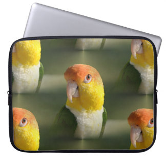 Cute White Bellied Caique Parrot Computer Sleeve