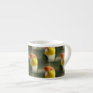 Cute White Bellied Caique Parrot Espresso Cup