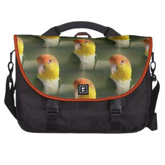 Cute White Bellied Caique Parrot Laptop Commuter Bag